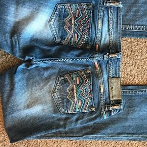 Multi-Color Embroidery Women's Jeans